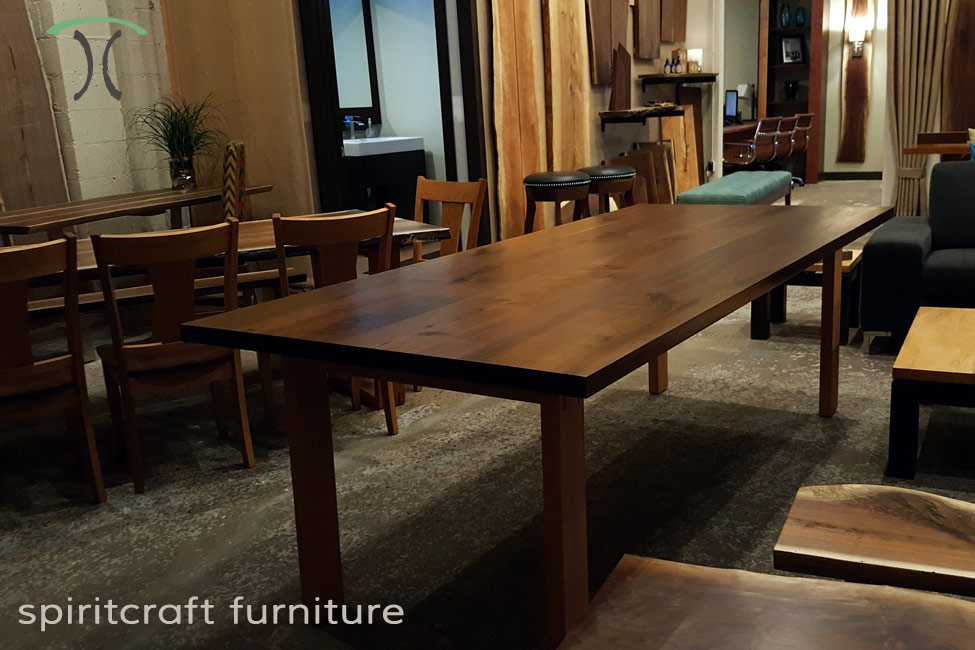 Live Edge Chicago Area Slab Table Furniture Showroom