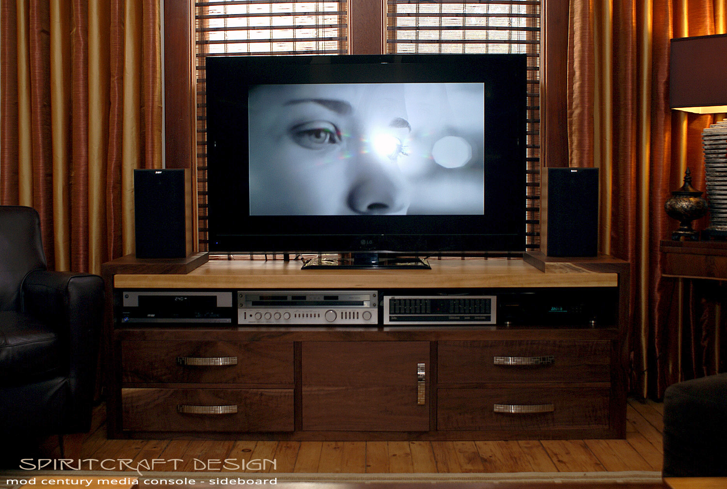 New Stereo Cabinet Media Storage Entertainment Center