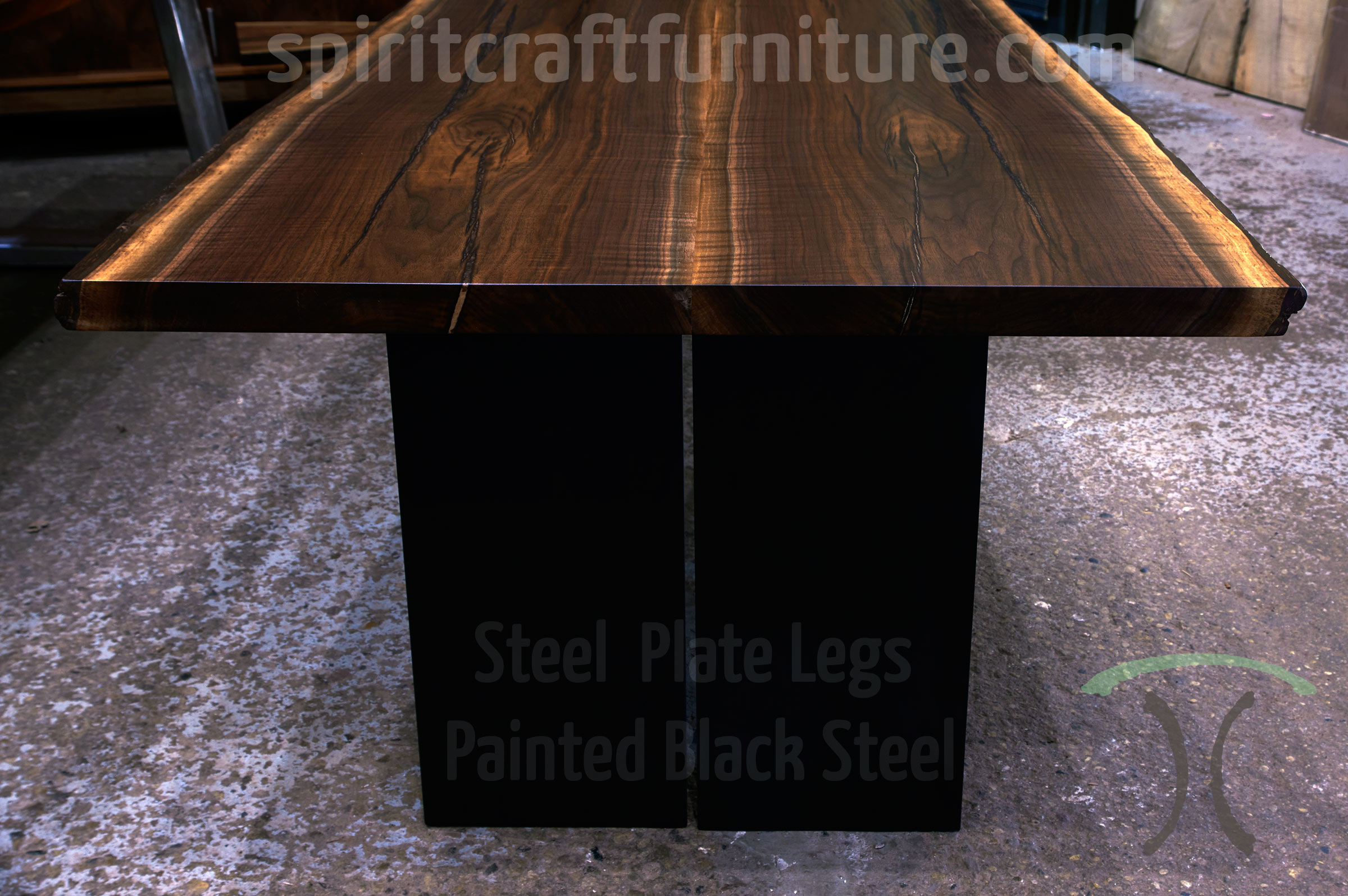Table Legs And Bases For Hardwood Slab Table Tops - Metal conference table legs
