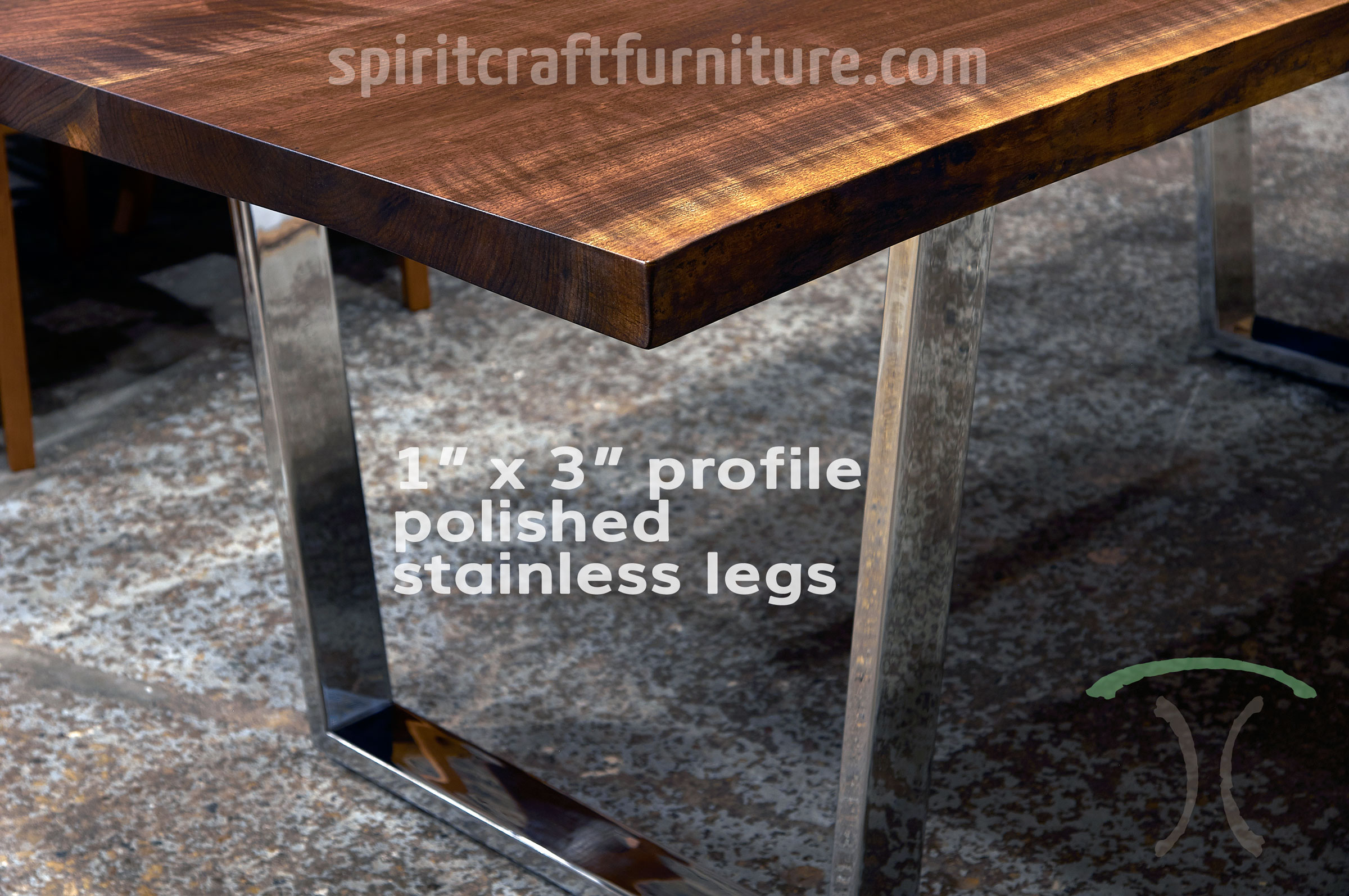 Legs And Bases For Hardwood Slab Table Tops