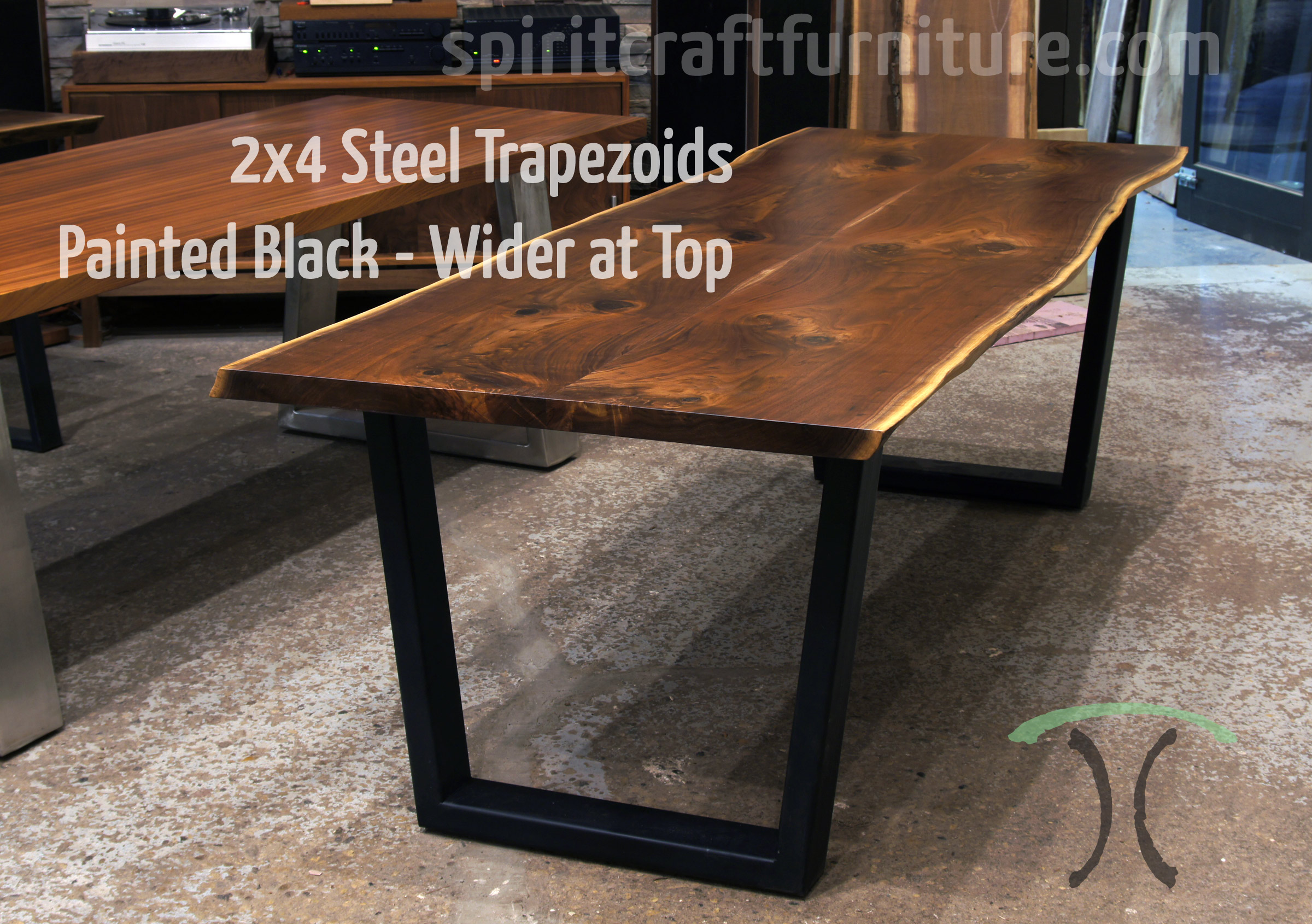 Table Legs And Bases For Hardwood Slab Table Tops - Conference table bases wood