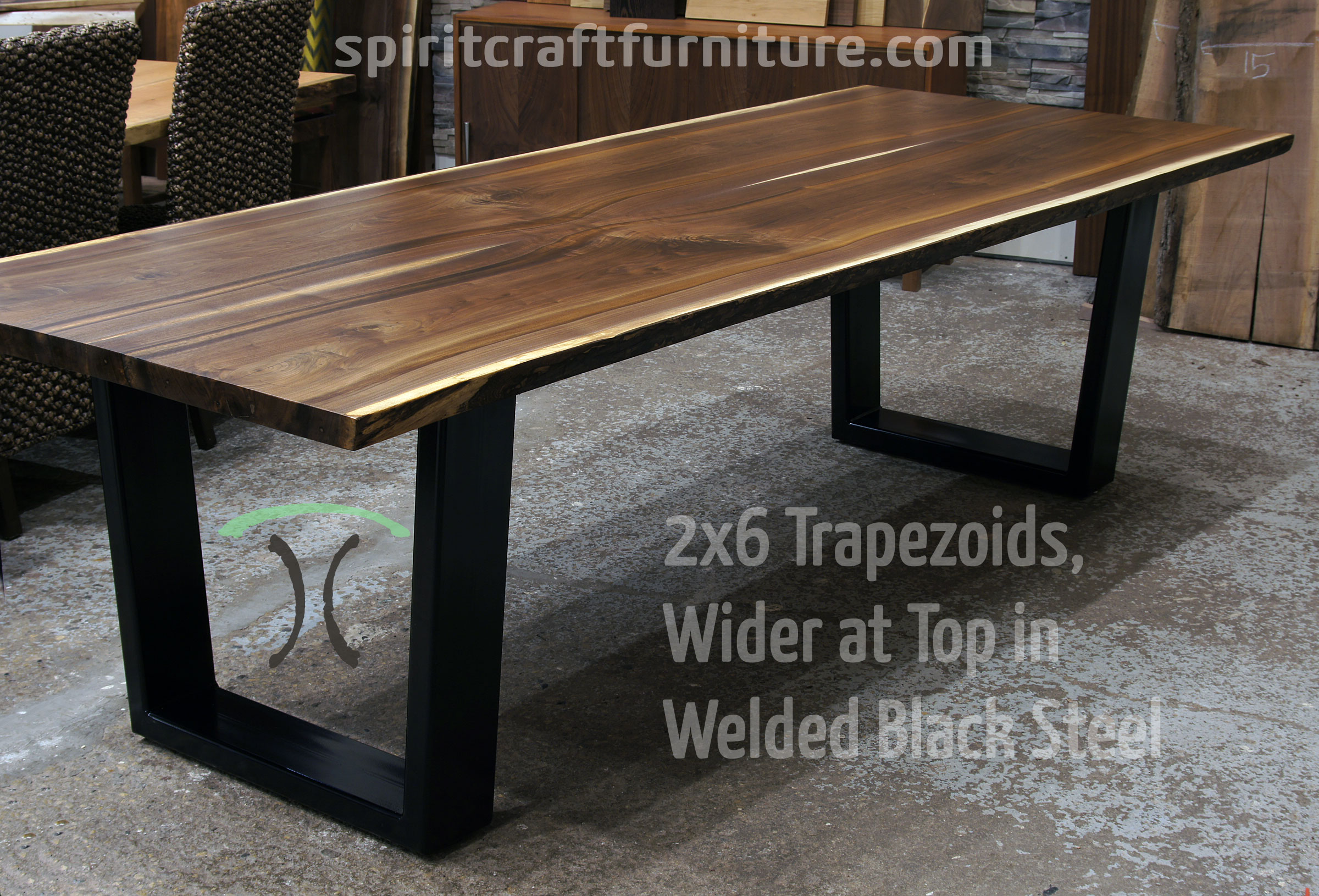 Table Legs And Bases For Hardwood Slab Tops