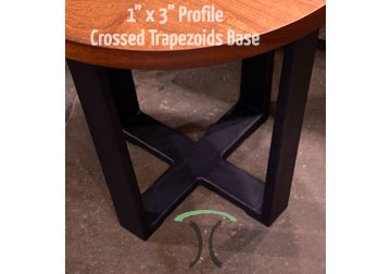 Table Legs And Bases For Hardwood Slab Table Tops - Welded table base