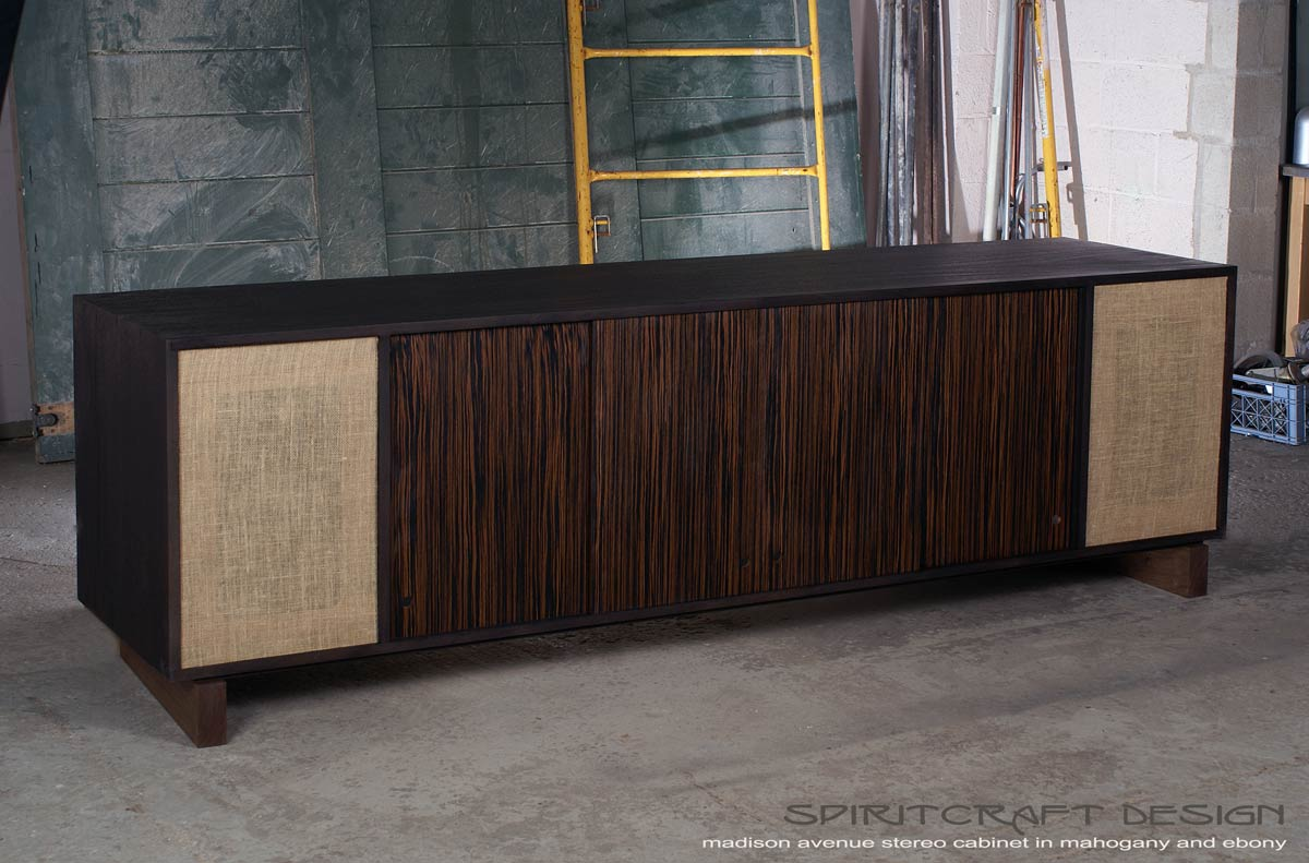 A new stereo cabinet design, what about putting real speakers in ...