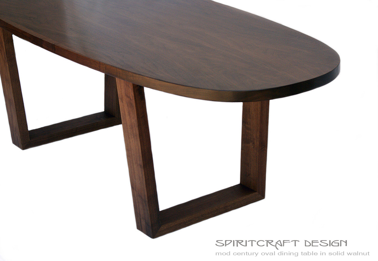 Mod century collection mid modern hardwood furniture for Stylish dining table