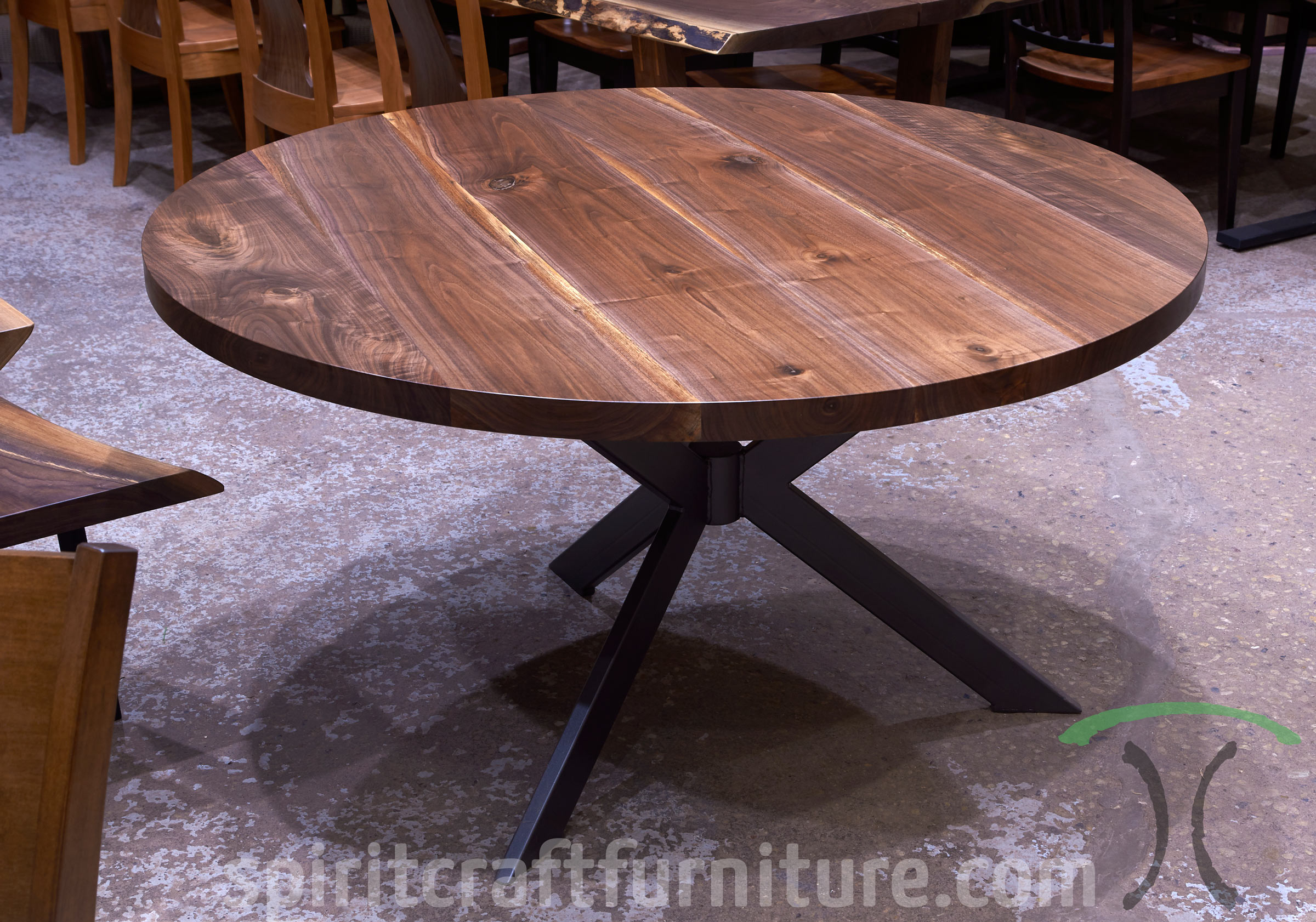 Round Custom Made Solid Wood Dining Conference Tables