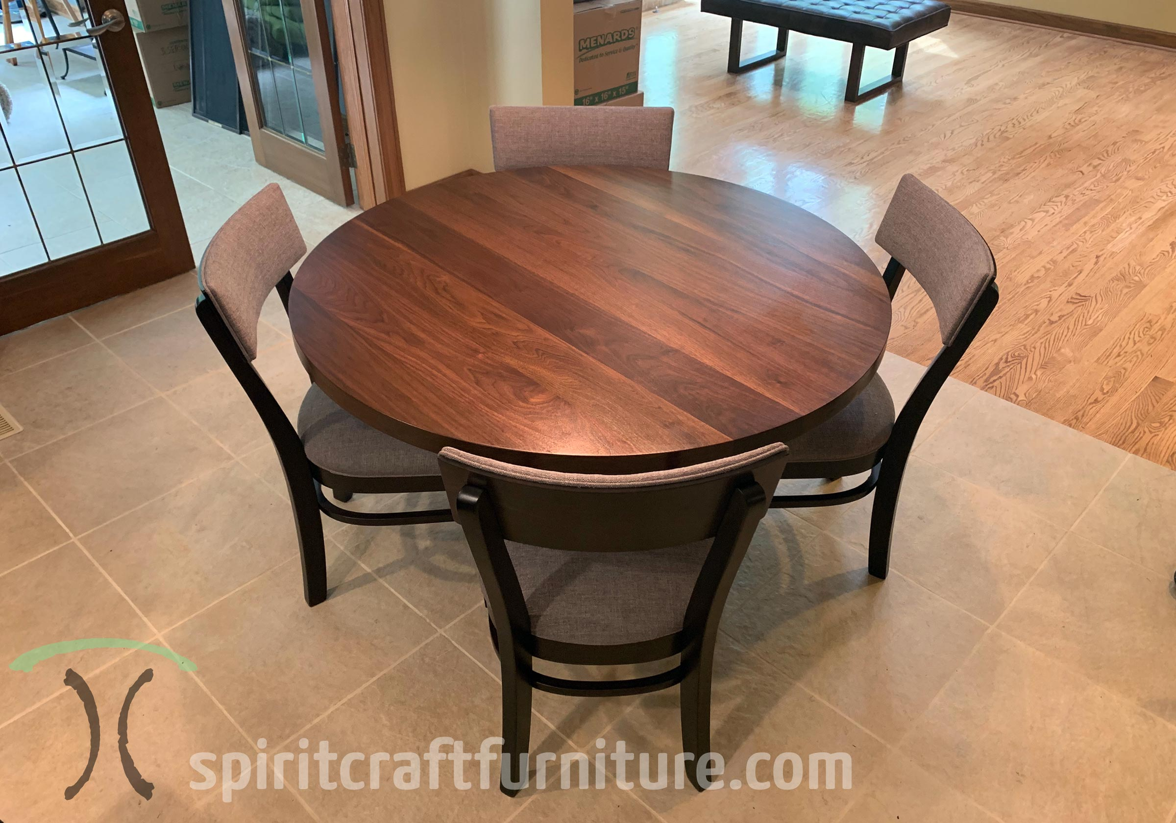 Picture of: Round Custom Made Solid Wood Dining Conference Tables