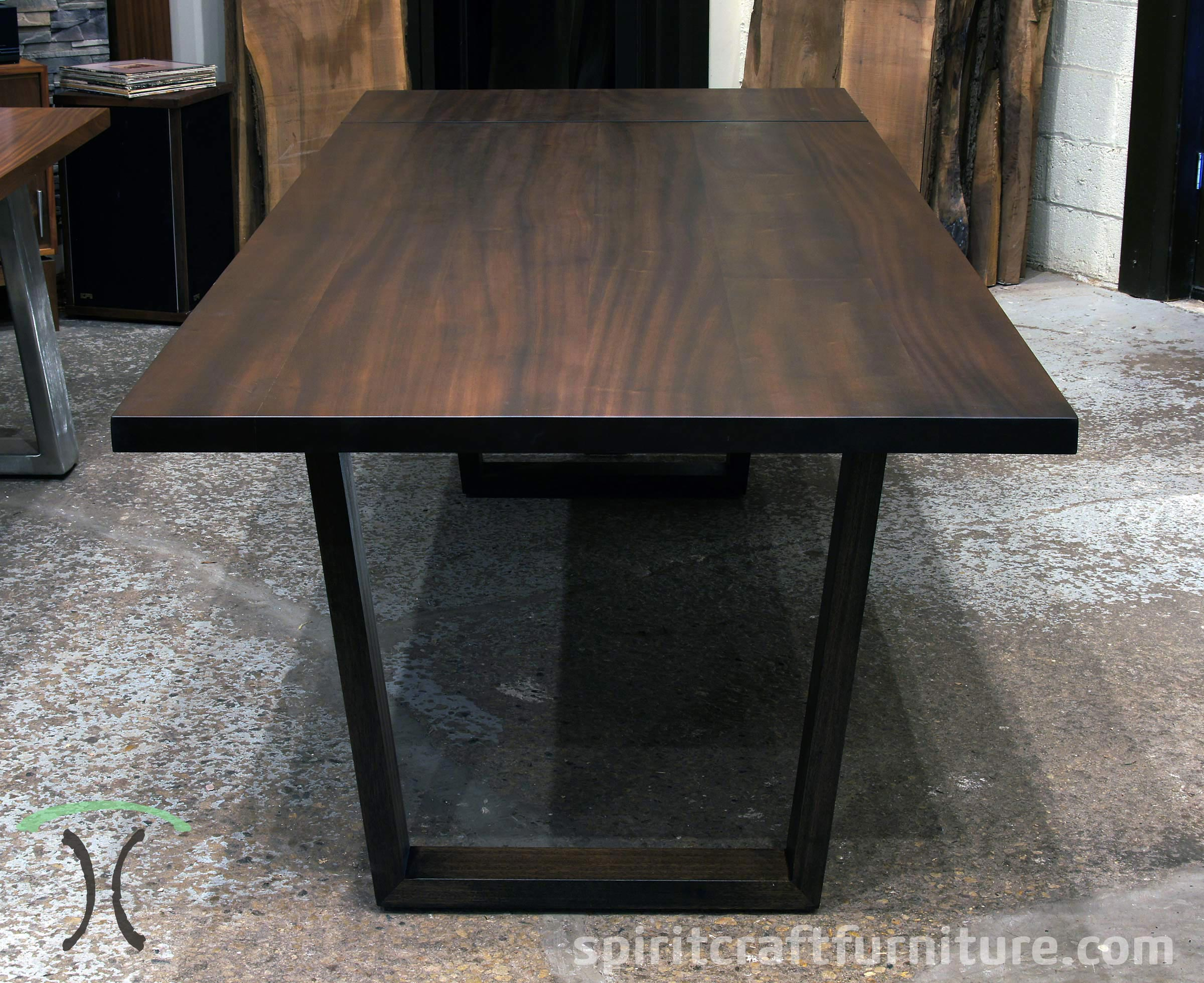 Sapele Mahogany Conference Table In Dark Walnut Stain With Solid Hardwood  Mitered And Splined Legs For