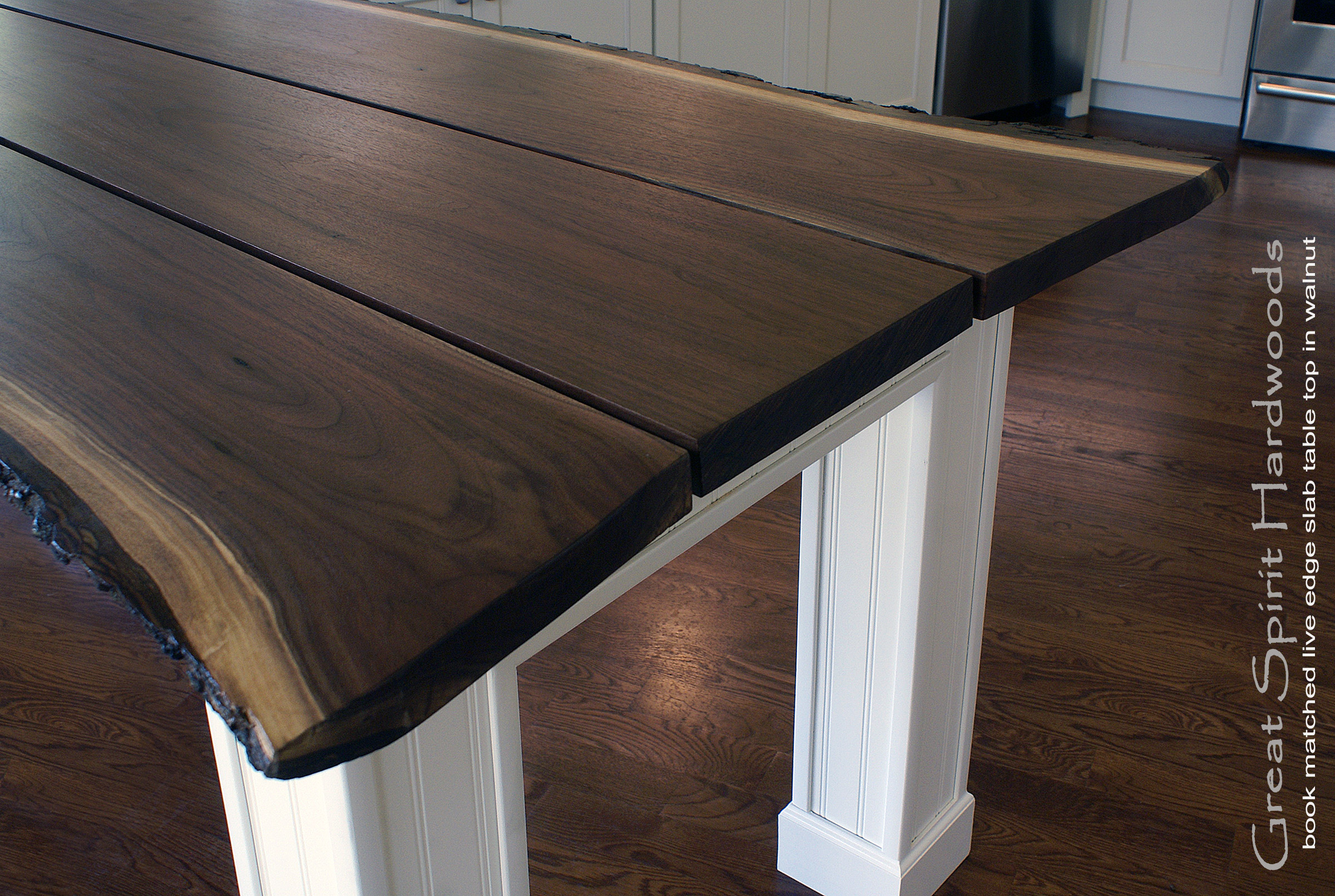 Live edge slab dining tables walnut slabs and tops for How to finish a wood slab