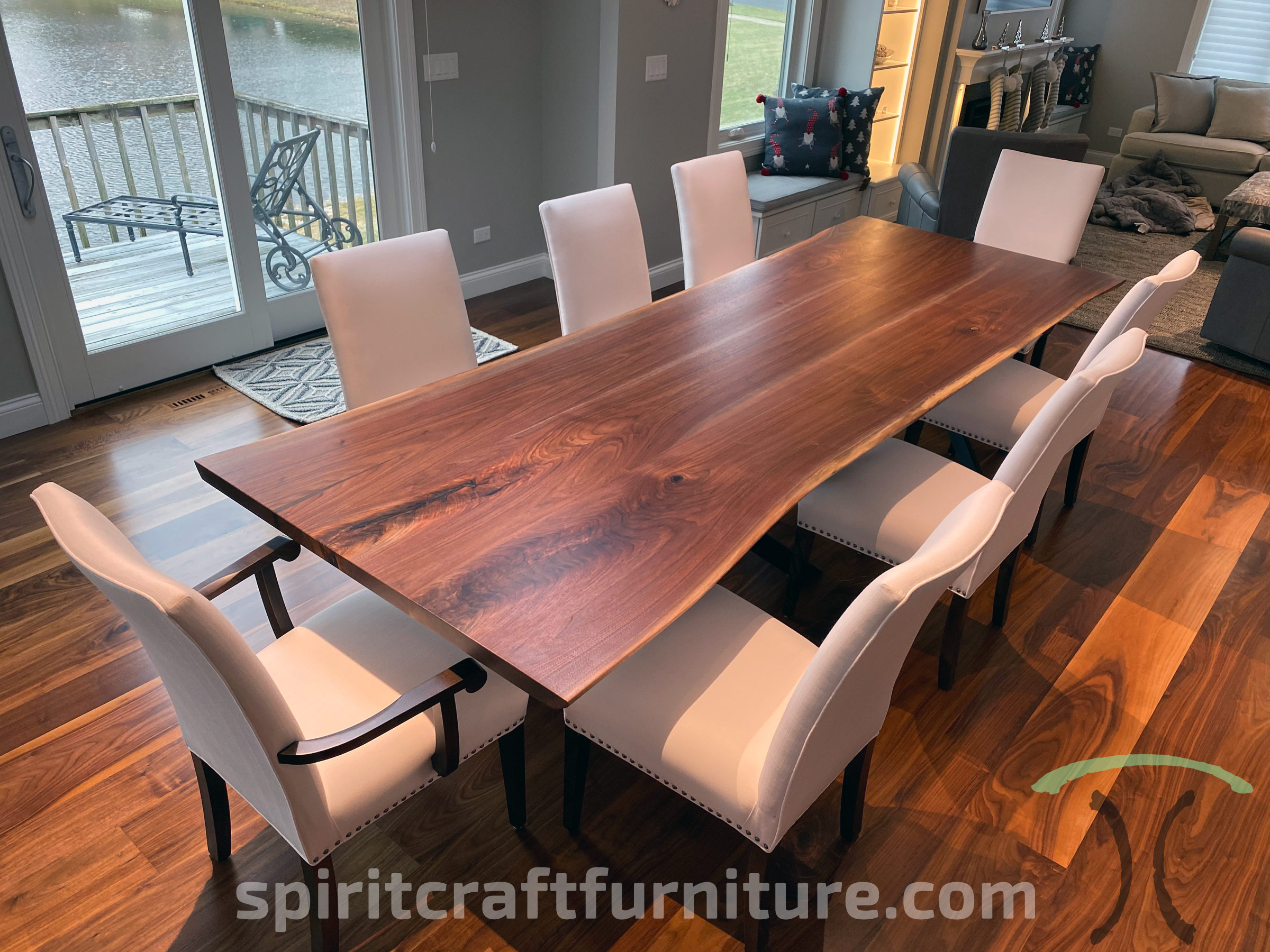 Custom Solid Wood And Live Edge Dining Conference Tables