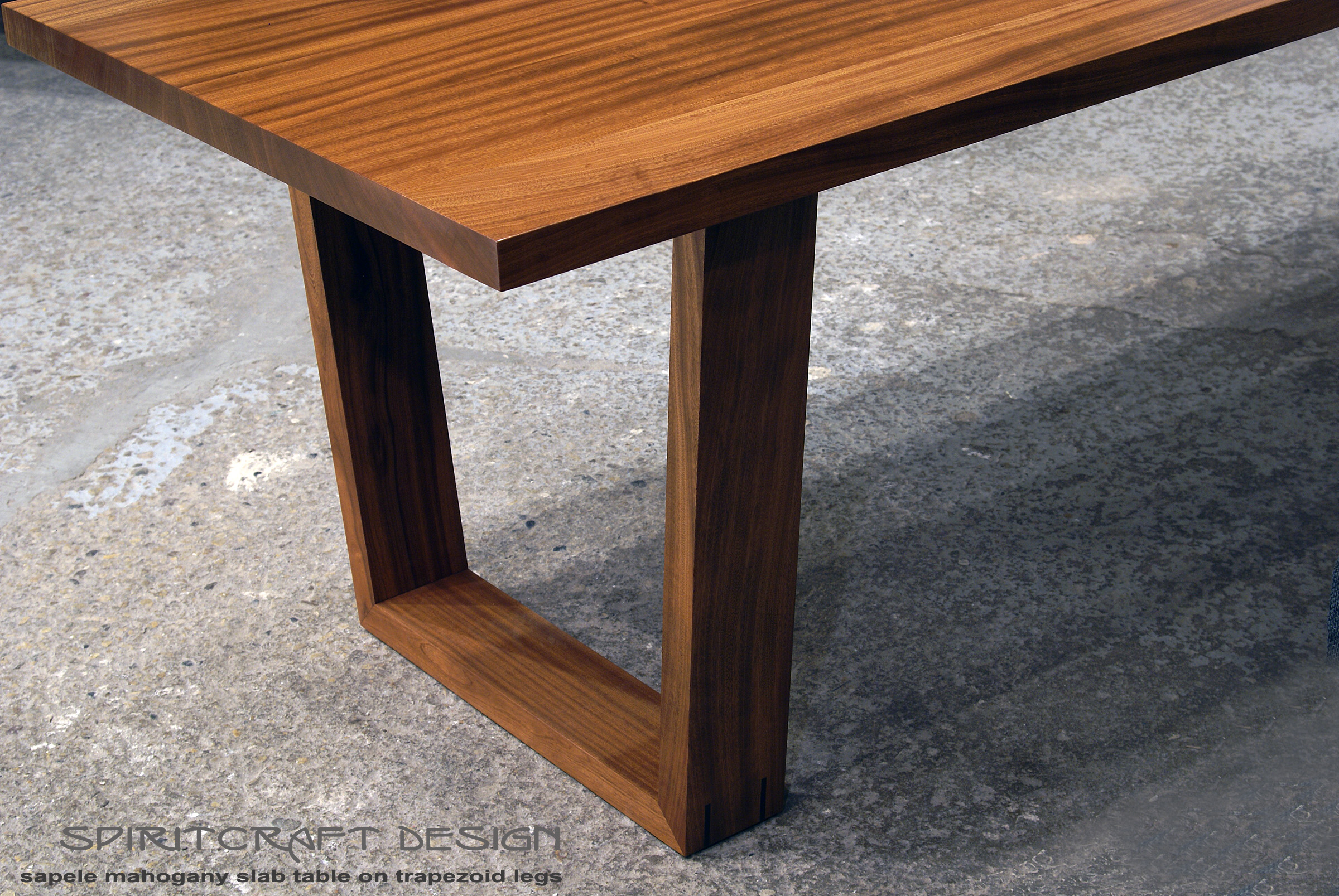 fine handcrafted solid hardwood furniture in dundee il solid hardwood dining table in slab sapele mahogany in mid century modern style by spiritcraft interior