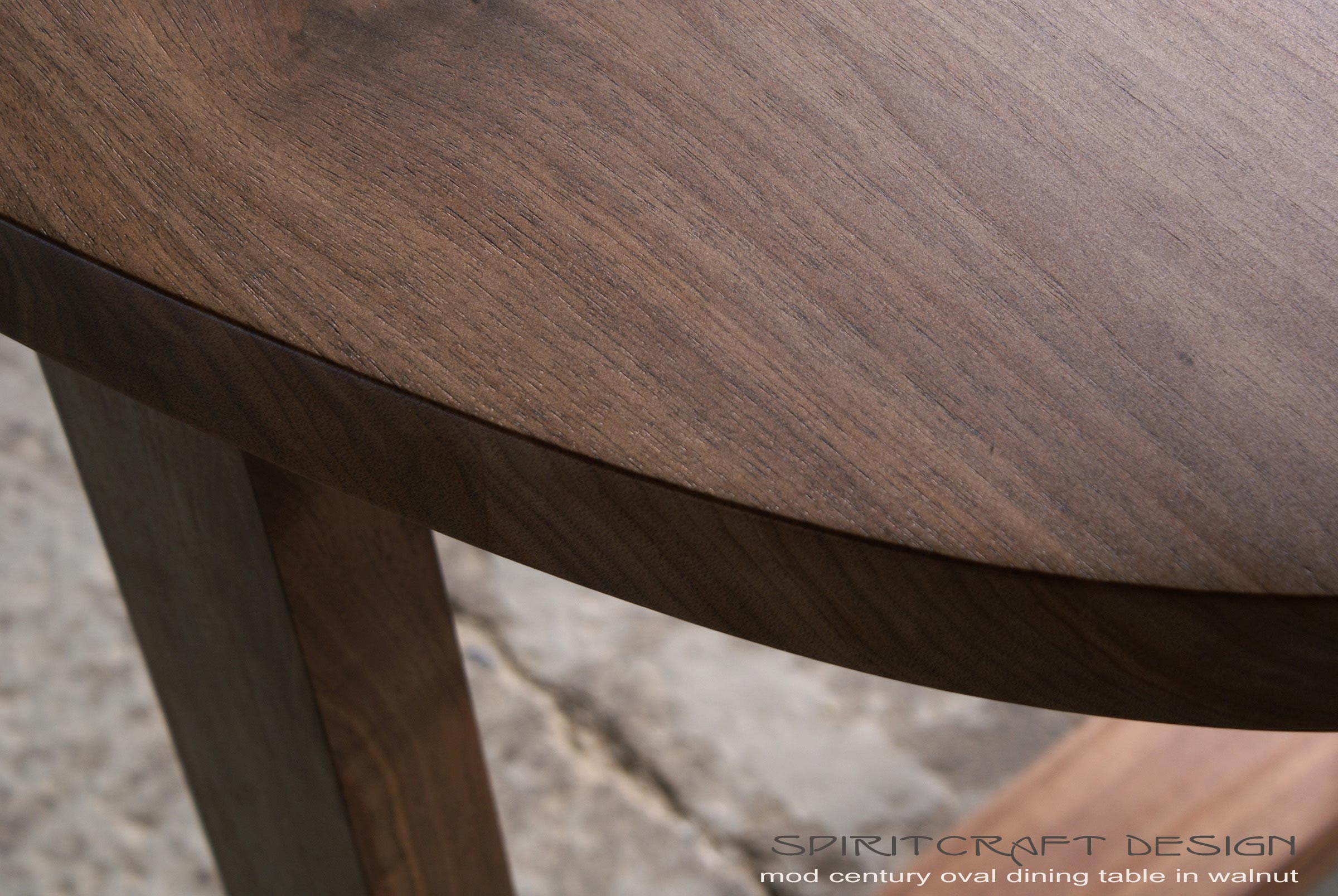 Black Walnut Slab Oval Table Top On Our Mitered And Splined Open Legs For  New York Part 69