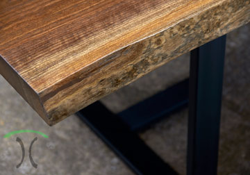 solid kiln dried black walnut live edge desk - conference table for suburman Chicago corporate office installation.