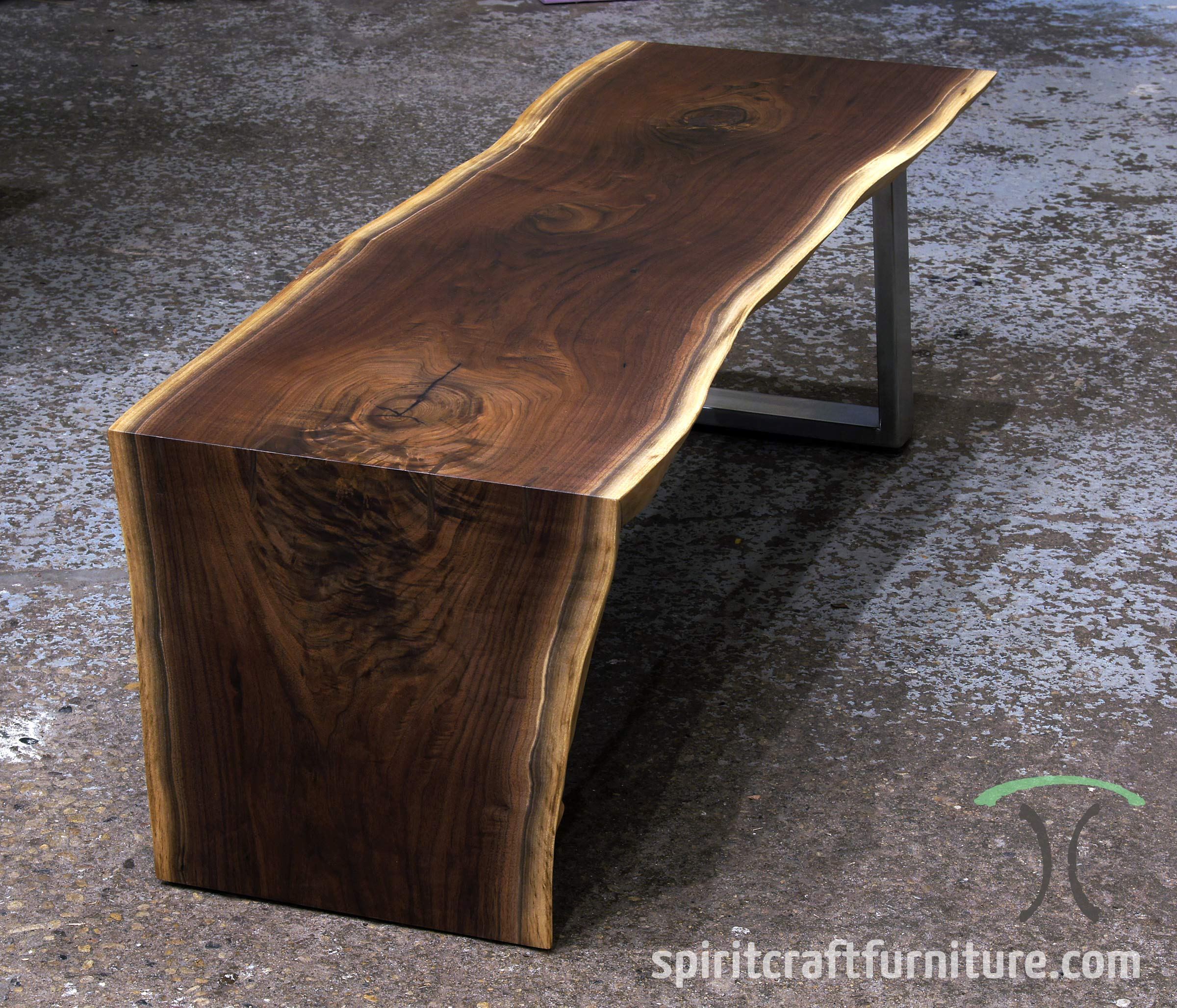 Live Edge Square Coffee Table: Live Edge Slab Dining Tables, Walnut Slabs And Tops