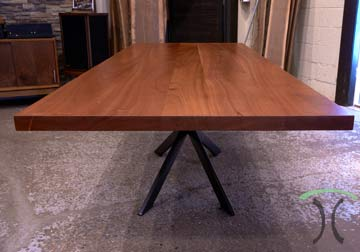 Custom made solid hardwood table tops for restaurant, office, library and residential in Sapele Mahogany and other quality hardwoods